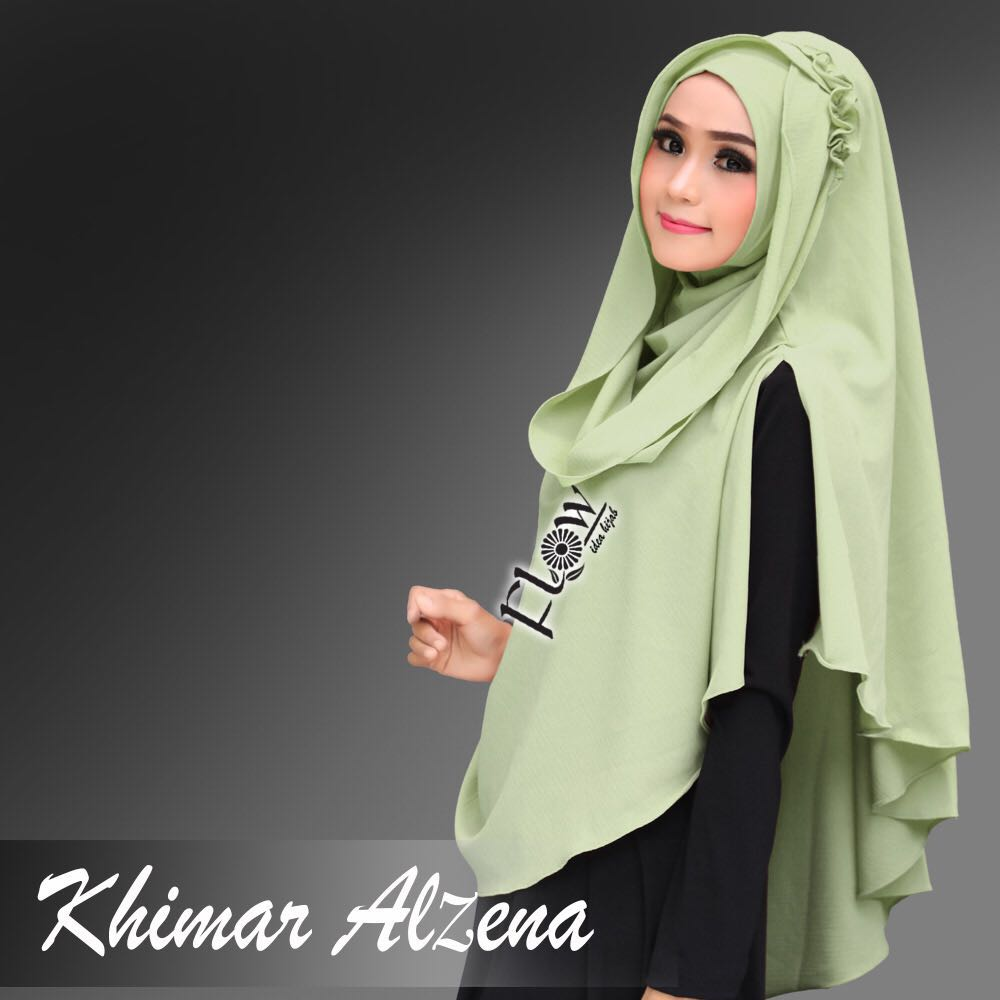 Khimar-Alzena-hijau-pupus
