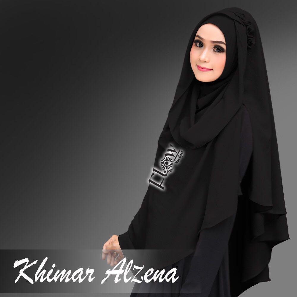 Khimar-Alzena-hitam