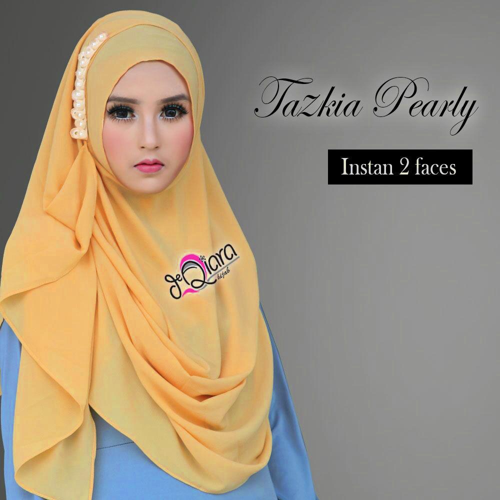 Tazkia Pearly Kuning Kunyit Jilbab Flow Idea